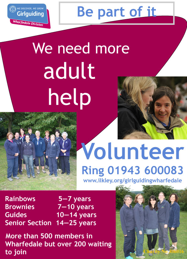 girlguiding adult volunteers needed